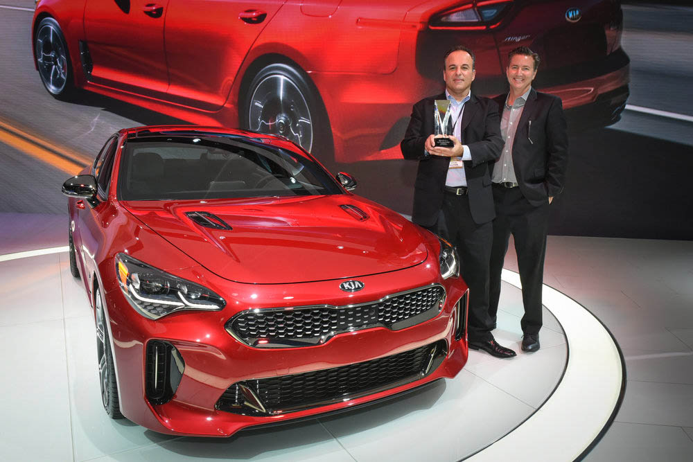 KIA Stinger wins Best Production Car at the 2017 Eyes on Design Awards